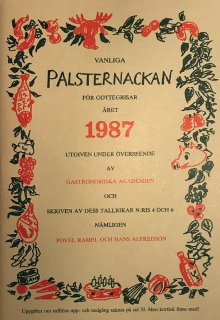 Vanliga Palsternackan för Gottegrisar året 1987